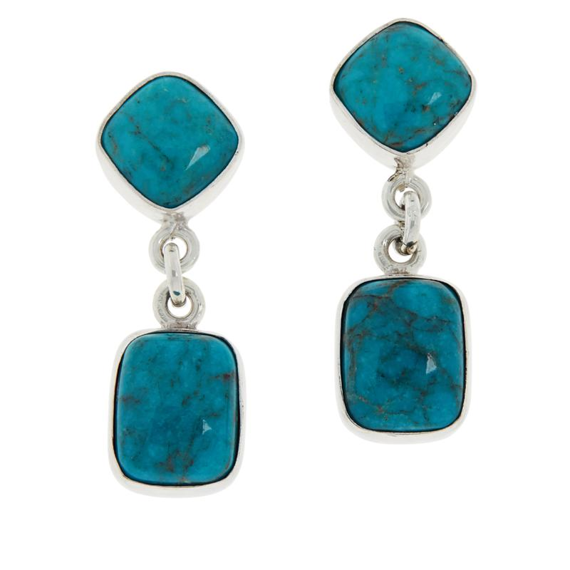 Jay King Gallery Collection Angel Peak Turquoise Earrings