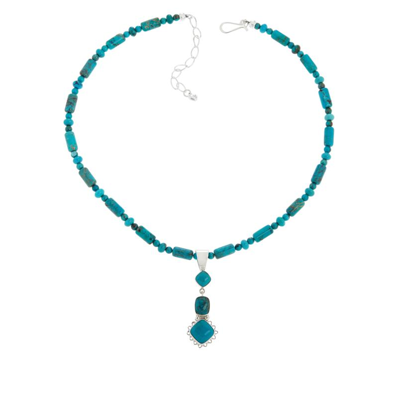 Jay King Gallery Collection Angel Peak Turquoise Pendant with Necklace