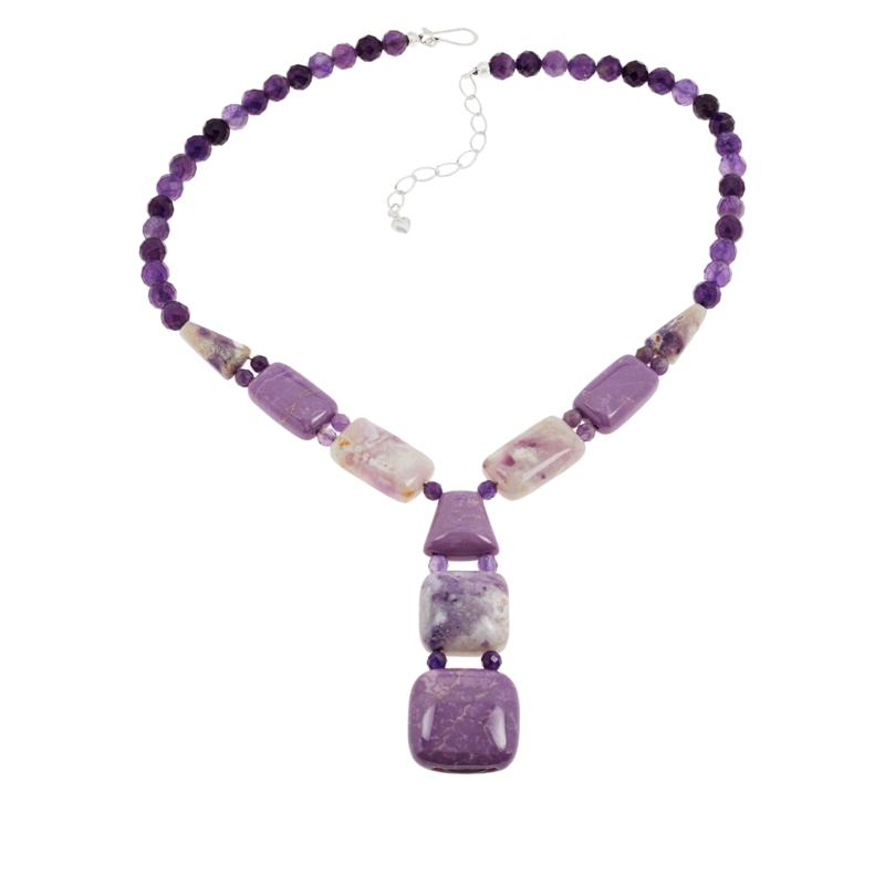 Jay King Gallery Collection Purple Multi-Gemstone Y-Drop Necklace