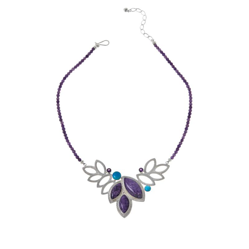 Jay King Gallery Collection Sterling Silver Multigemstone Necklace