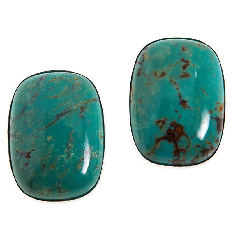 Jay King Lonesome Pine Mountain Turquoise Stud Earrings