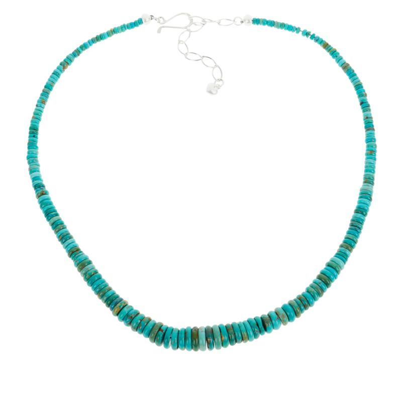 Jay King Multi-Color Turquoise Graduating Disc Bead Necklace