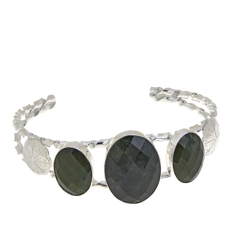 Jay King Nephrite Jade Sterling Silver Cuff Bracelet