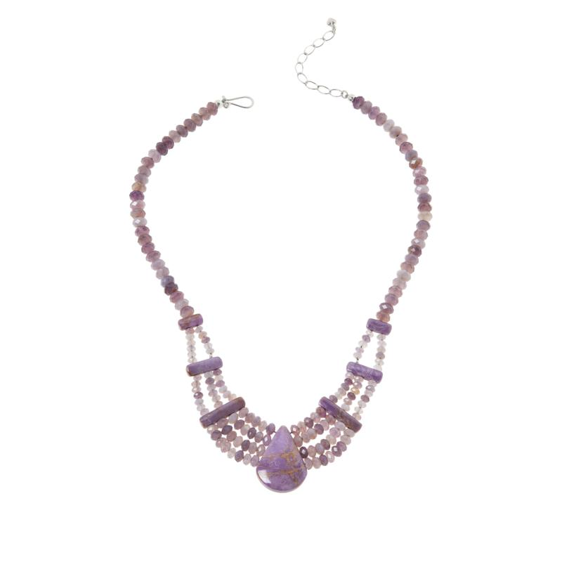 Jay King Purple Chalcedony and Phosphosiderite Necklace