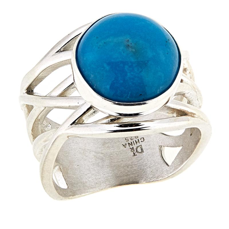 Jay King Round Red Skin Turquoise Sterling Silver Ring