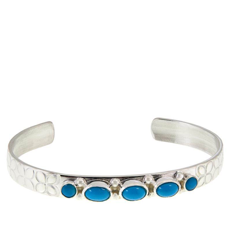 Jay King Sleeping Beauty Turquoise Child-Size Cuff Bracelet