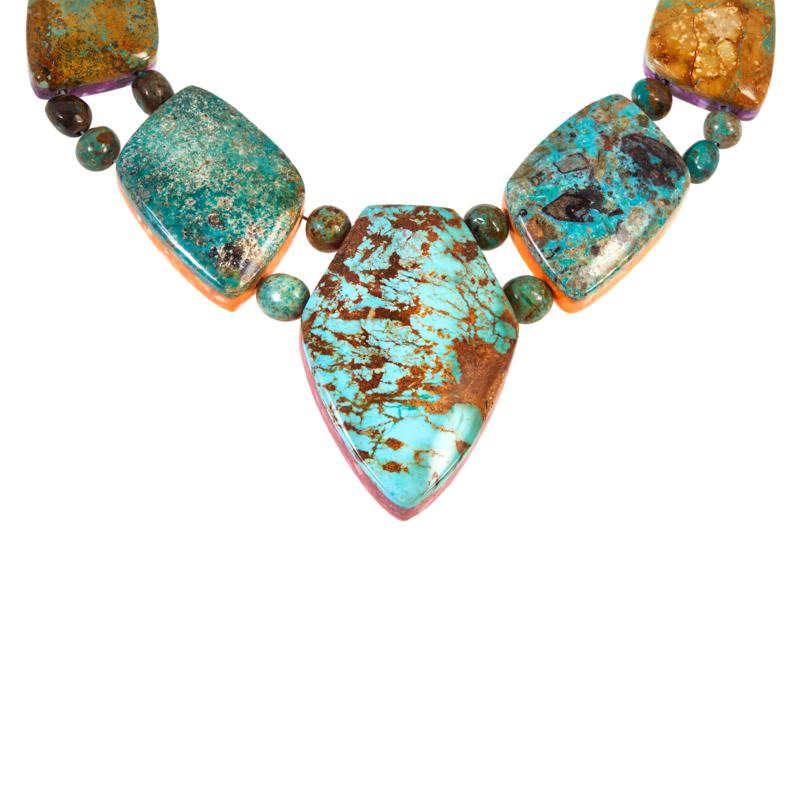 cloisonn\u00e9 amazonite  /& wood beads 30+\u201d Long beaded gold leaf trim painted oyster shell necklace with antique pink drop charm with jasper