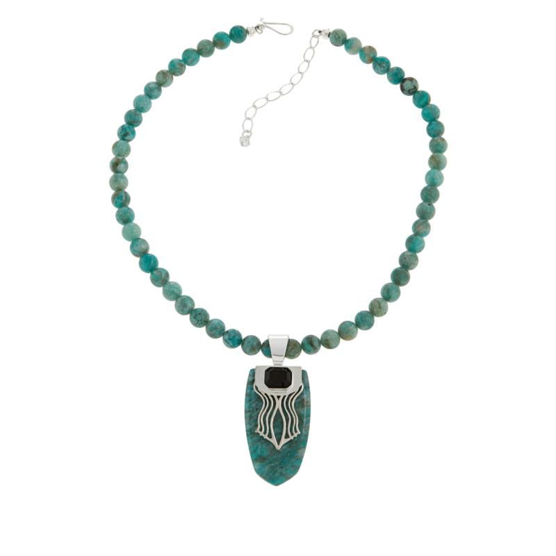 Jay King Sterling Silver Amazonite & Smoky Quartz Pendant and Necklace