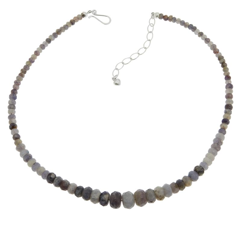 Jay King Sterling Silver Blue Moonstone Graduated Bead Necklace