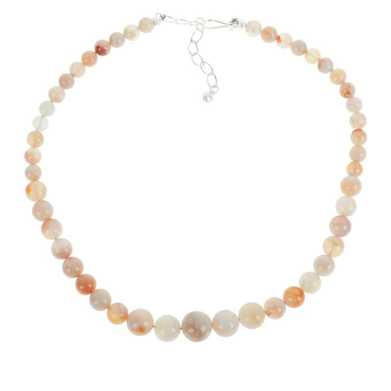 Jay King Sterling Silver Cherry Chalcedony Bead Necklace