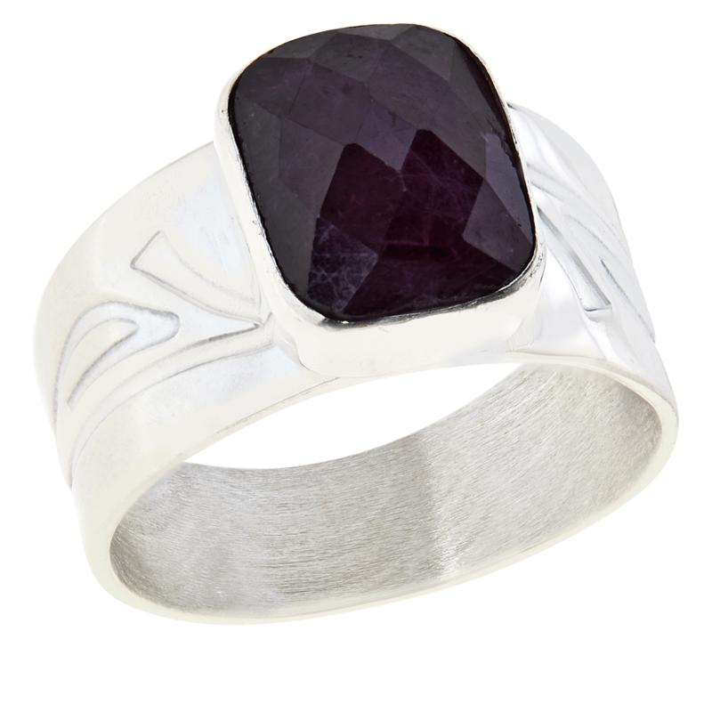 Jay King Sterling Silver Cushion-Cut Ruby Ring