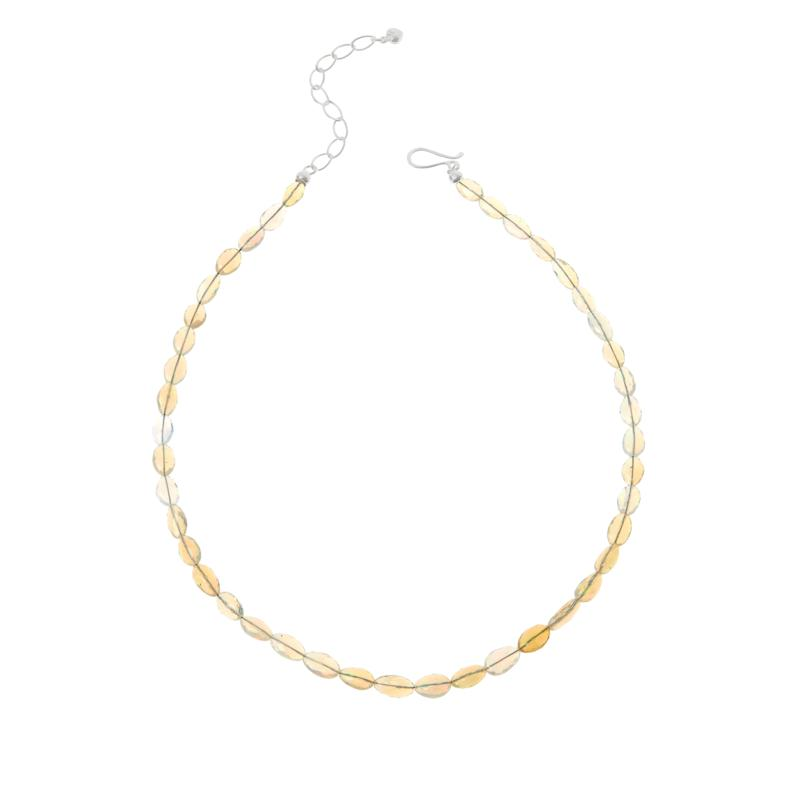Jay King Sterling Silver Ethiopian Opal Bead Necklace