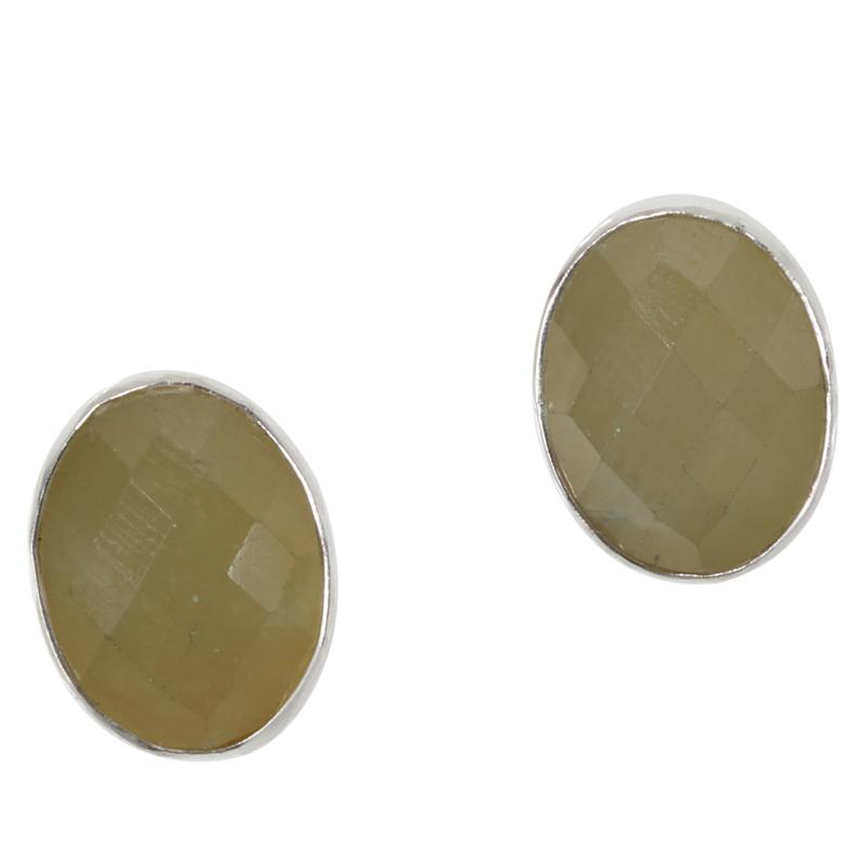 Jay King Sterling Silver Faceted Yellow Sapphire Stud Earrings