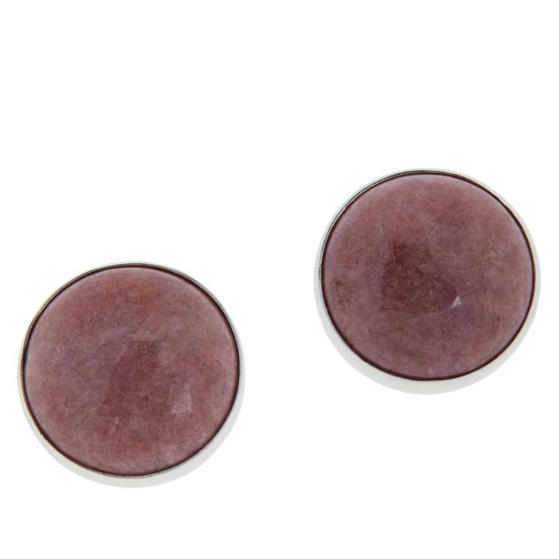 Jay King Sterling Silver Gemstone Button Earrings