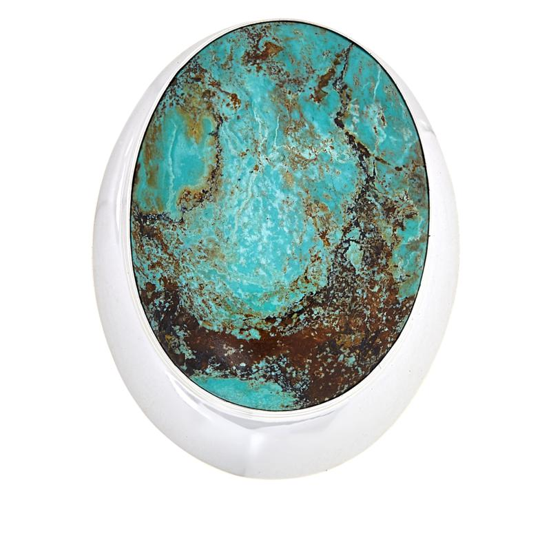 Jay King Sterling Silver Hubei Turquoise Pendant