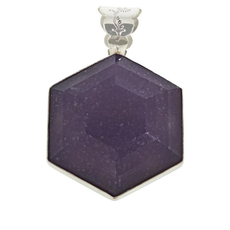 Jay King Sterling Silver Lepidolite Hexagonal Pendant
