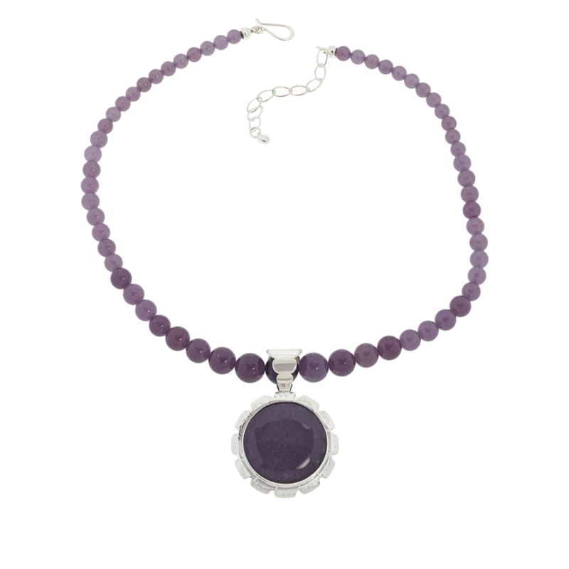Jay King Sterling Silver Lepidolite Pendant with Necklace