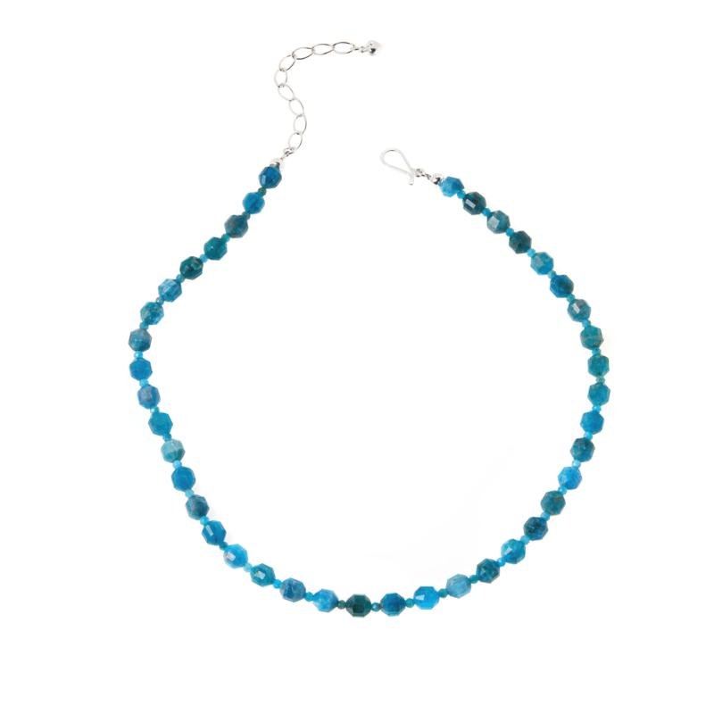 Jay King Sterling Silver Neon Apatite Bead Necklace