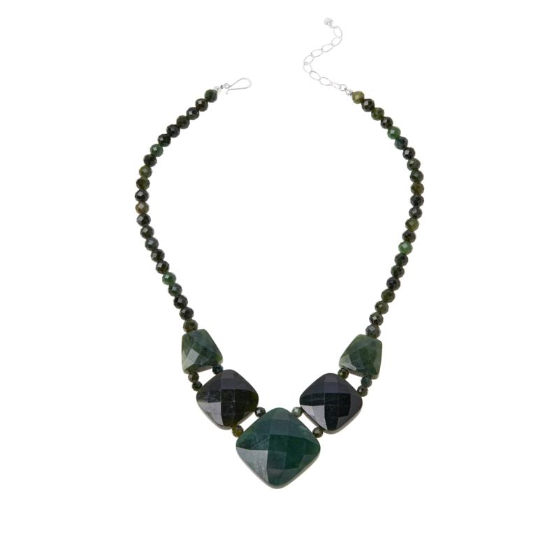 Jay King Sterling Silver Nephrite Jade Reversible Necklace