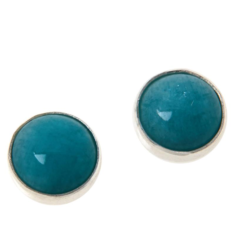 Jay King Sterling Silver Peruvian Amazonite Stud Earrings