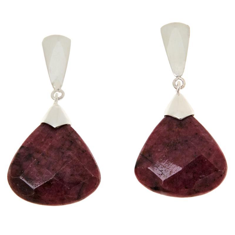 Jay King Sterling Silver Pink Rhodonite Drop Earrings