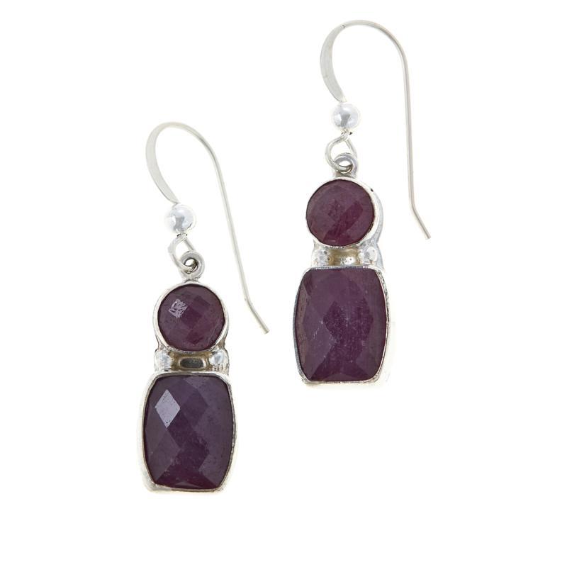 Jay King Sterling Silver Purple Sapphire Drop Earrings