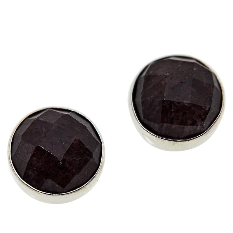 Jay King Sterling Silver Round Strawberry Quartz Stud Earrings