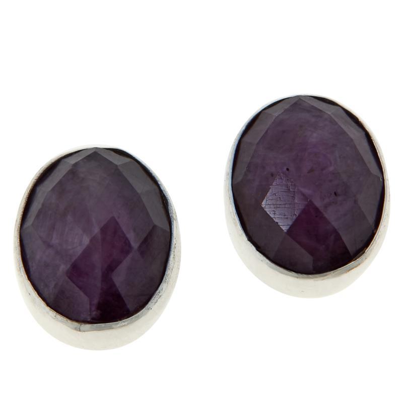 Jay King Sterling Silver Ruby Oval Earrings