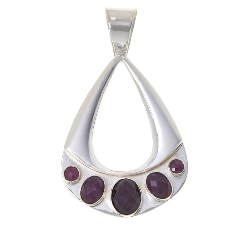 Jay King Sterling Silver Ruby Pendant