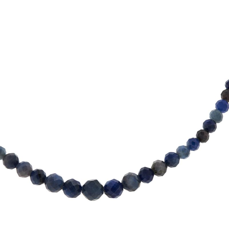 Jay King Sterling Silver Sapphire Bead Necklace