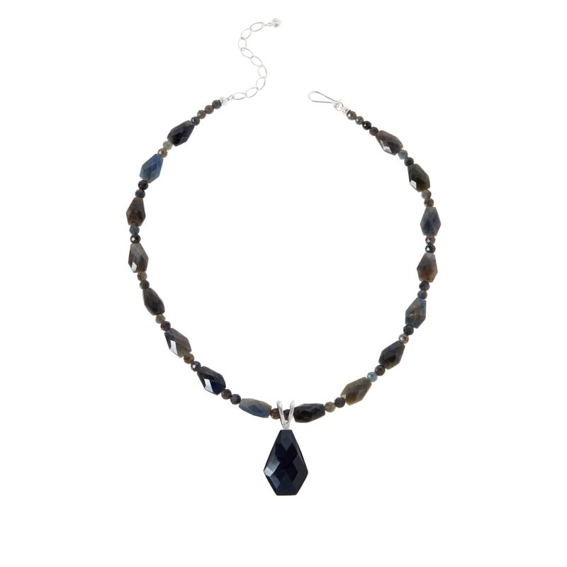 Jay King Sterling Silver Sapphire Pendant with Necklace