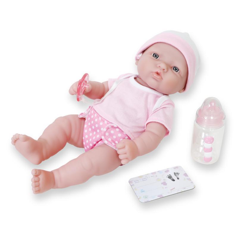 "JC Toys La Newborn Nursery 12"" Caucasian Baby Doll Gift Set"