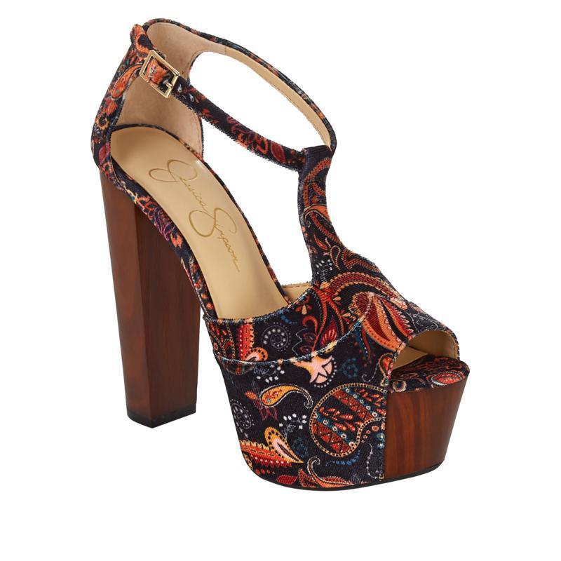 Jessica Simpson Dany Print T-Strap Platform Dress Sandal