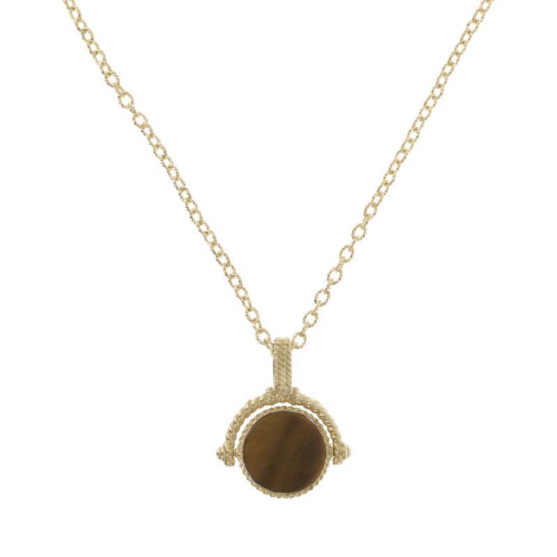 Judith Ripka 14K Gold-Clad Gem and Diamonique Reversible Pendant