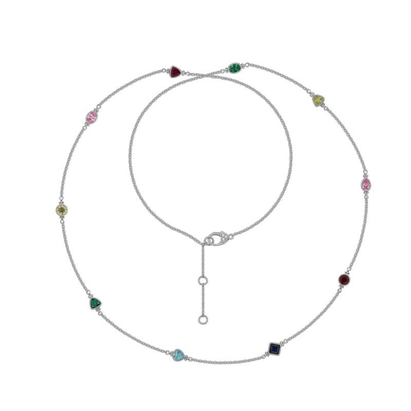 Judith Ripka Multi-Color Diamonique® Station Chain Necklace