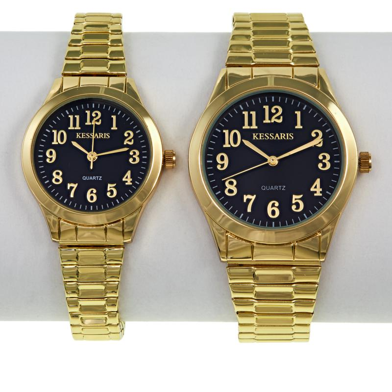 Kessaris 2-piece His and Hers Expansion Band Watch Set