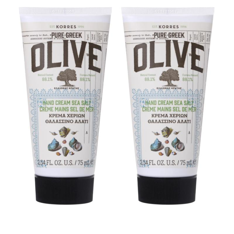Korres Olive Oil & Sea Salt Hand Cream Duo - 2.54 fl. oz.