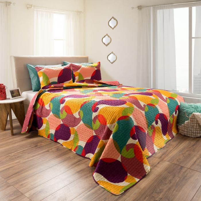Lavish Home 2pc Evelyn Reversible Quilt Set - King