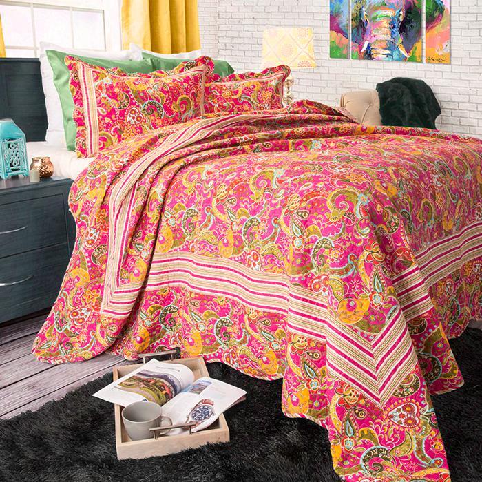 Lavish Home 3-piece Paisley Quilt Set - King