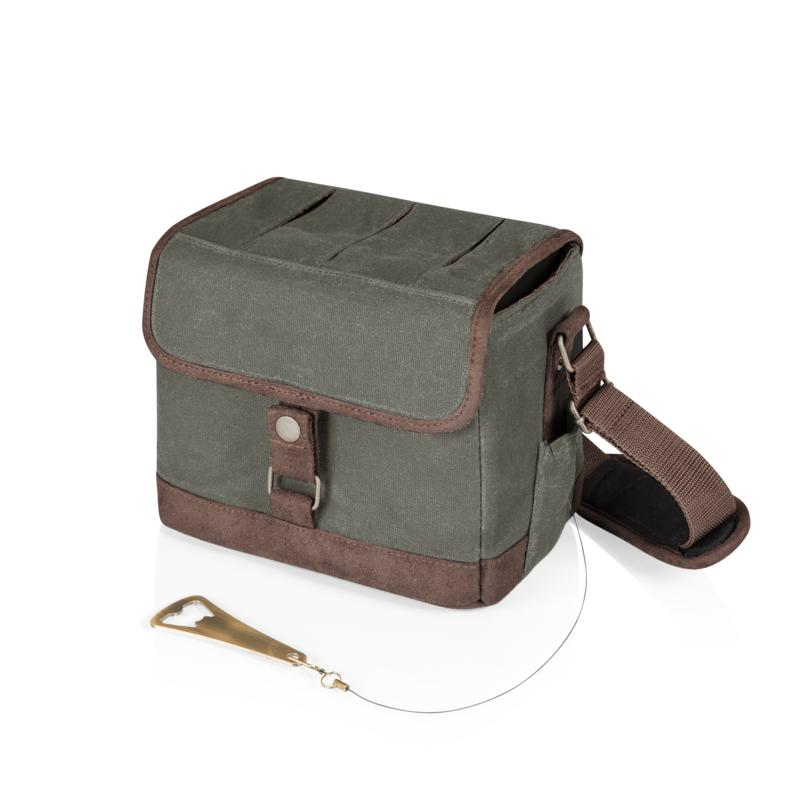 Legacy by Picnic Time Beer Caddy (Khaki Green with Brown Accents)