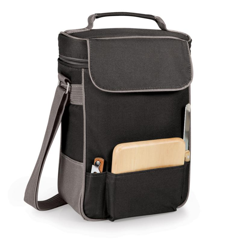 Legacy by Picnic Time Duet Wine & Cheese Tote - Black w/ Gray Accents
