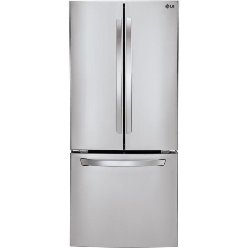 "LG 22 Cu. Ft. 30"" Wide French Door Refrigerator - Steel"