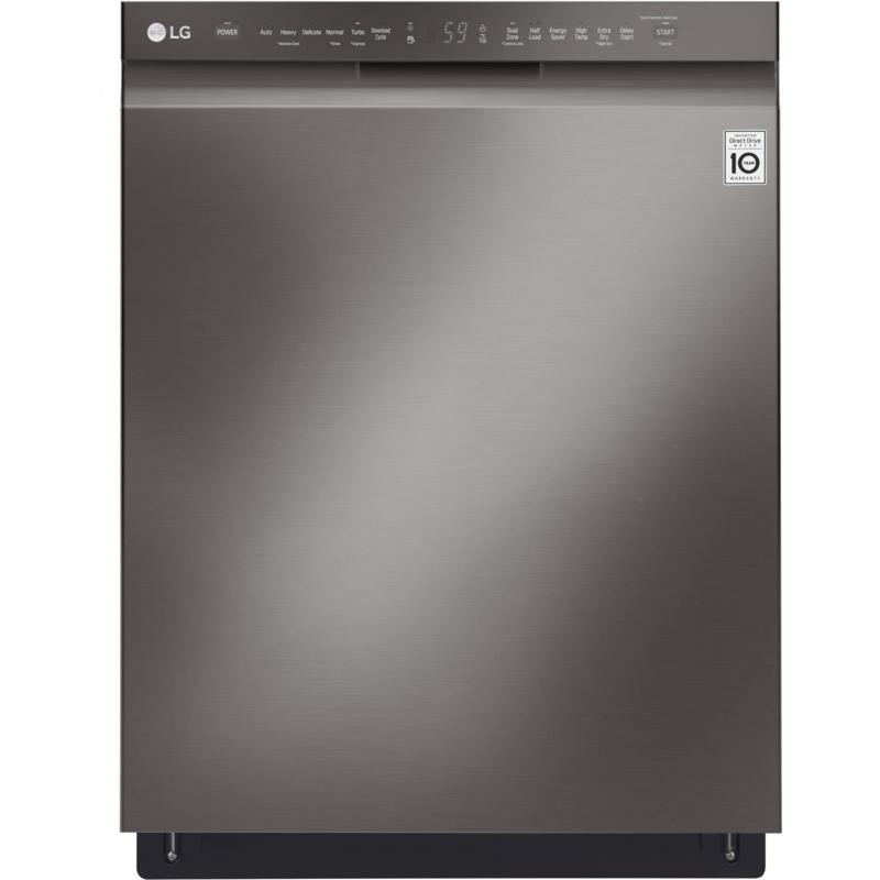 LG Front Control Dishwasher with QuadWash - Black Stainless Steel