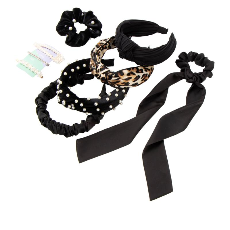 Locks & Mane Black Essentials 10-piece Hair Accessory Set