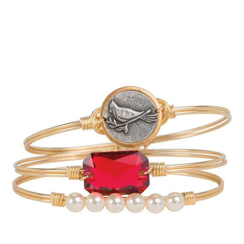 Luca + Danni Cardinal 3-piece Stack Bracelet Set