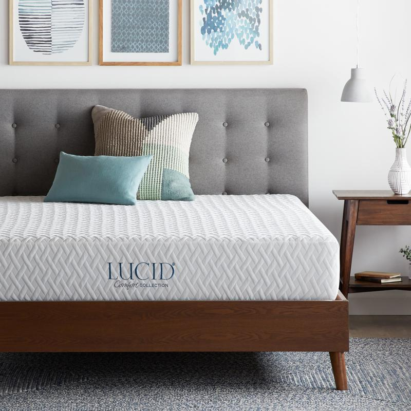 "LUCID Comfort Collection 10"" Plush Memory Foam Mattress - Twin XL"