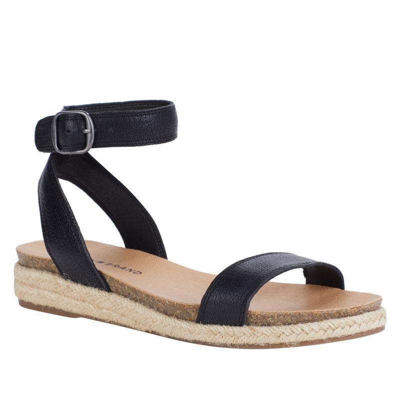 Lucky Brand Garston Leather Espadrille Wedge Sandal