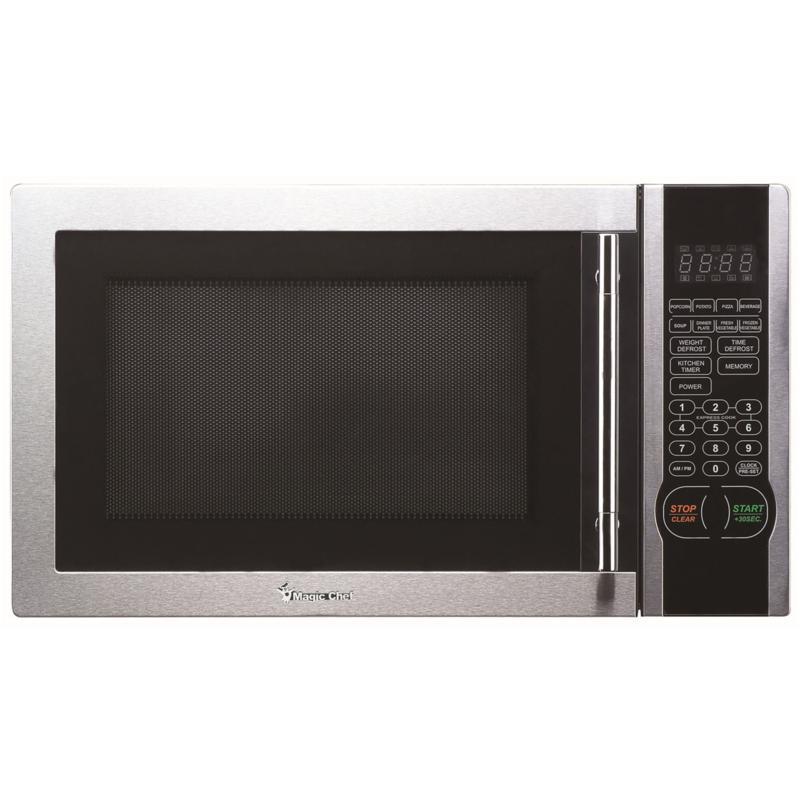 Magic Chef 1.1 Cu Ft 1000W Countertop Microwave Oven w/Stylish Handle