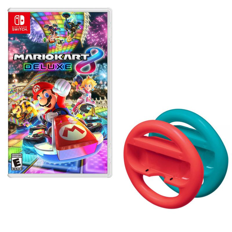 """Mario Kart 8"" Nintendo Switch Steering Wheel Bundle"