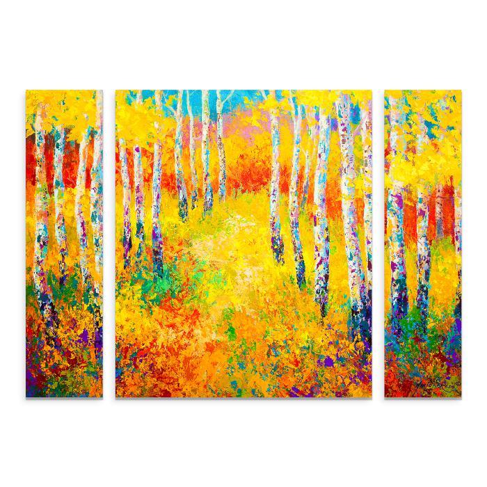 "Marion Rose ""Golden Path"" Multi-Panel Art - 24"" x 32"""
